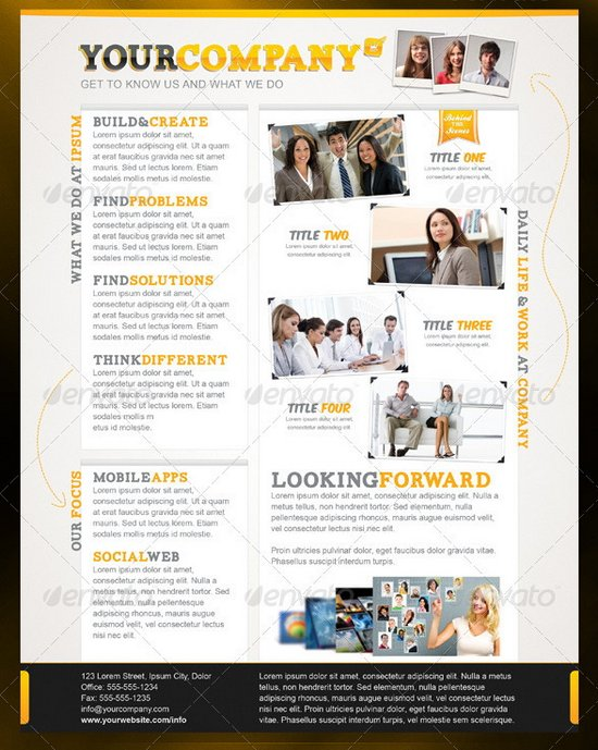 business flyer template 24