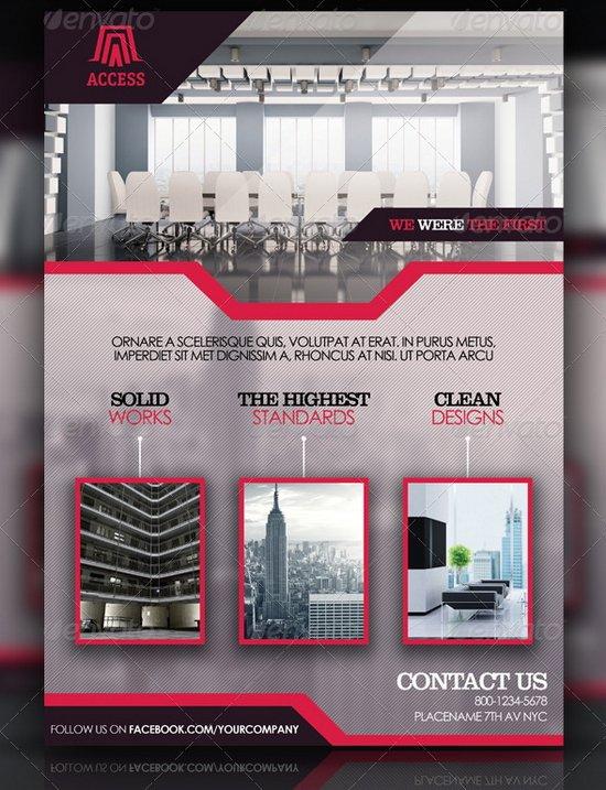 20 professional flyer templates for multi purpose business business flyer template 4 flashek Images