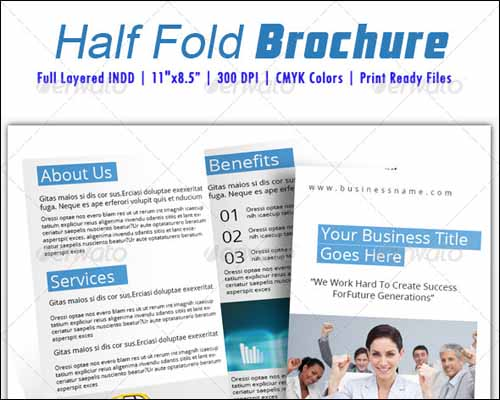 half fold brochure template - 25 best brochure design templates