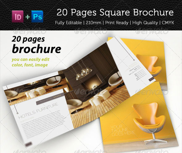 20 Pages Square Brochure Vol. 1