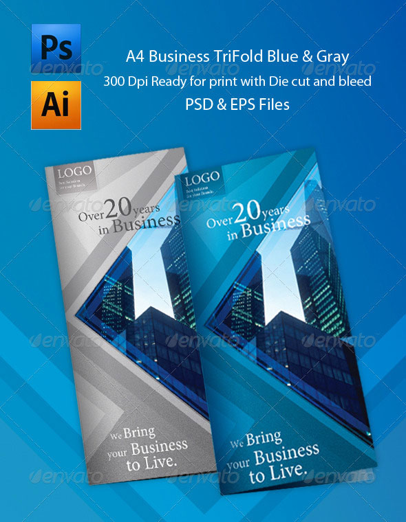 25 best brochure design templates page 2 of 2 for Pamphlet photoshop template