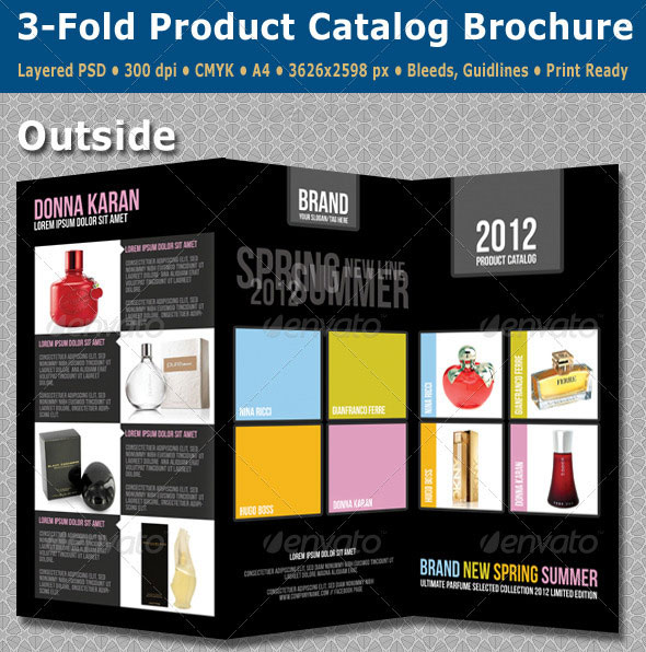 25 best brochure design templates for Sample product catalogue template