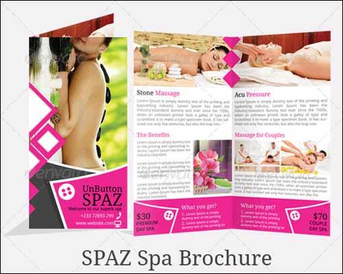 Best Brochure Design Templates Pixelscom Part - Free spa brochure templates