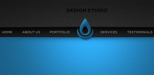 Sleek Blue Portfolio Website Header PSD