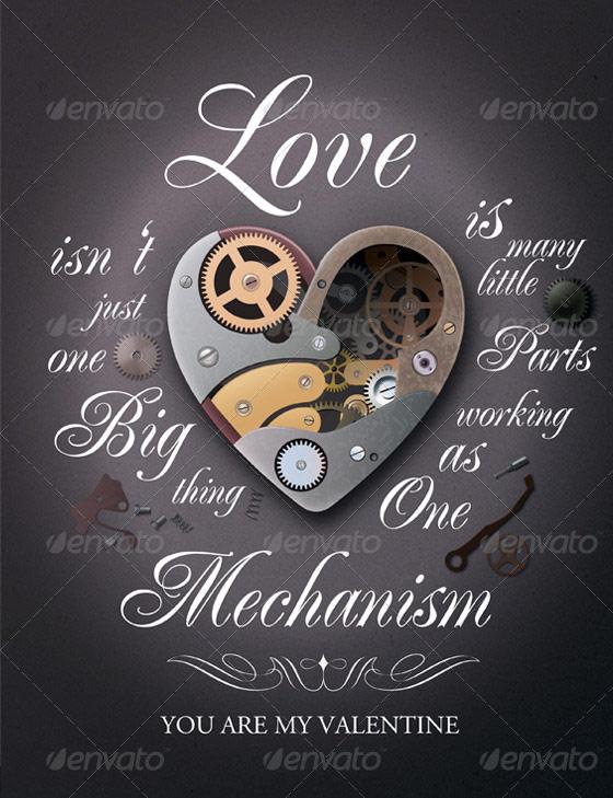 mechanism valentines flyer template