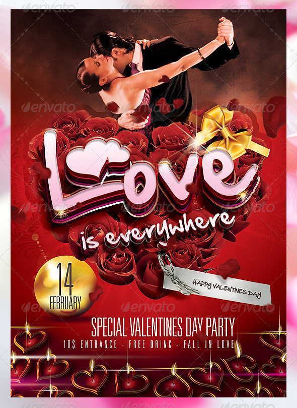 Best Valentines Day Party Flyer 56pixels