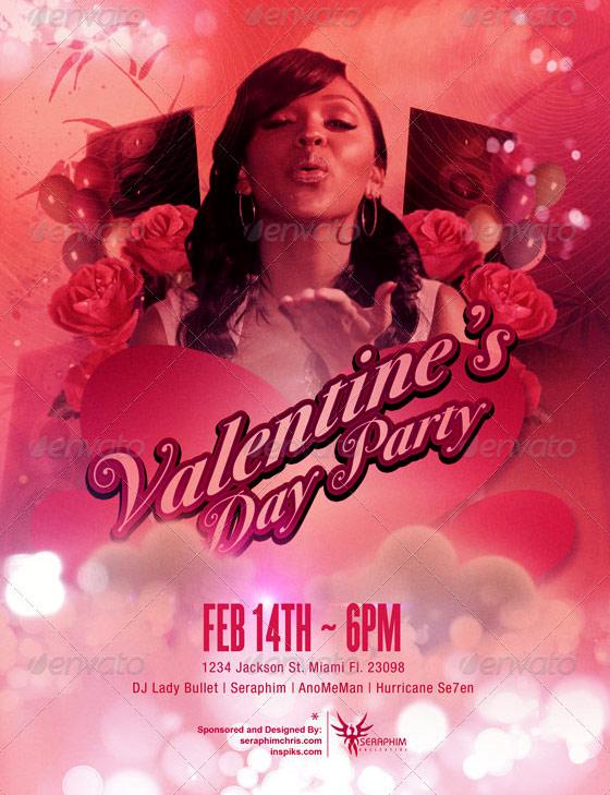 valentines flyer template mixtape
