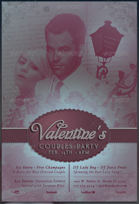 Valentines Couples Flyer Template