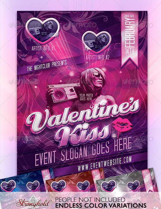 valentines-kiss-flyer-template