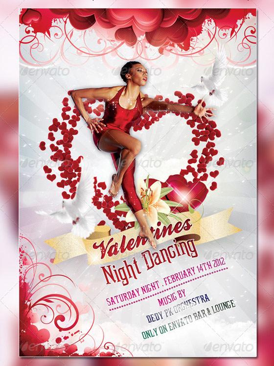Valentine Dancer Flyer Template
