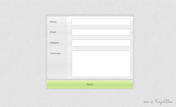 Light Grey Comment Form Element PSD