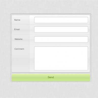 Light-Grey-Comment-Form-Element-PSD