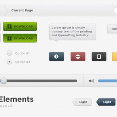 Light-Web-UI-Elements-PSD-Set