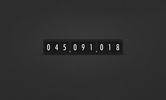 Simple Dark Minimalistic Countdown Timer