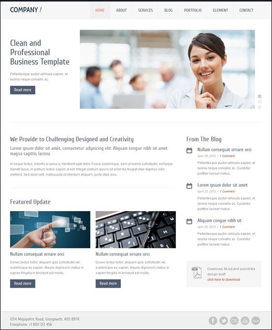 40 Great Responsive HTML Website Templates | 56pixels.com