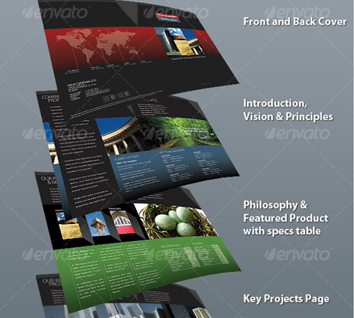 45 creative premium brochure template designs for Company brochure design templates