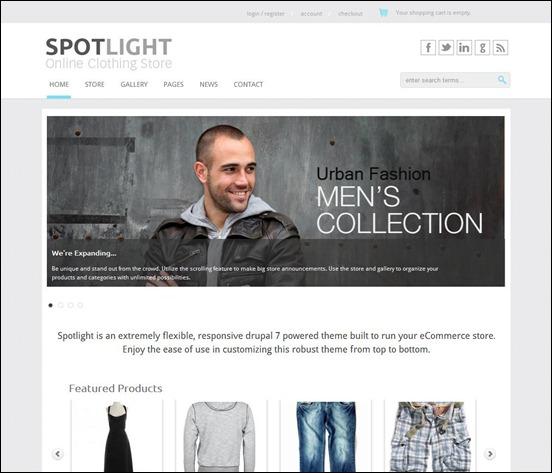 Spotlight - responsive drupal 7 theme