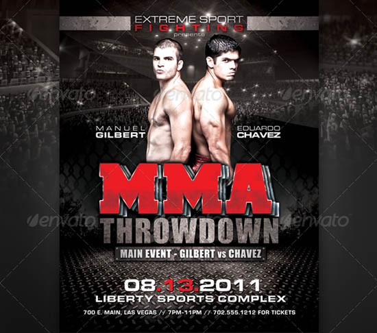 MMA Fight Flyer