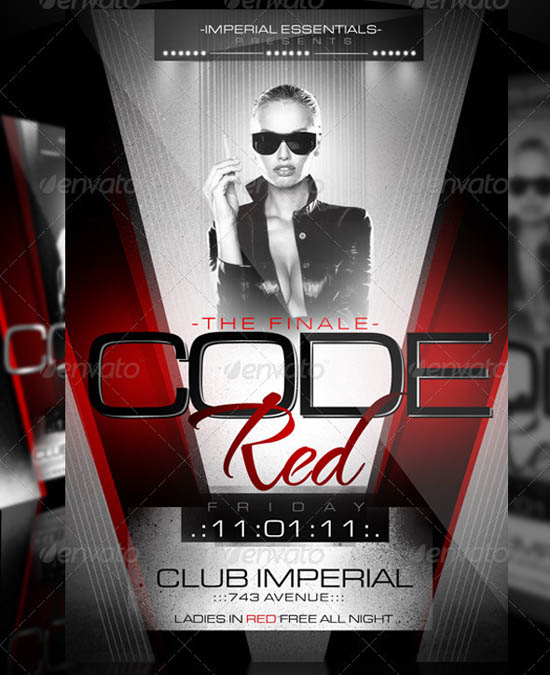Code Red Flyer Template