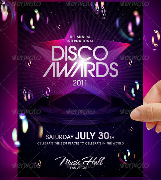 Disco Awards Party Flyer Template