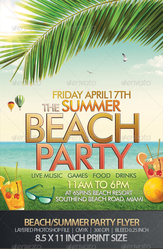Summer or Beach Party Flyer