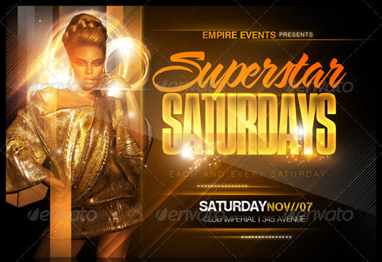 Superstar Saturdays Flyer Template