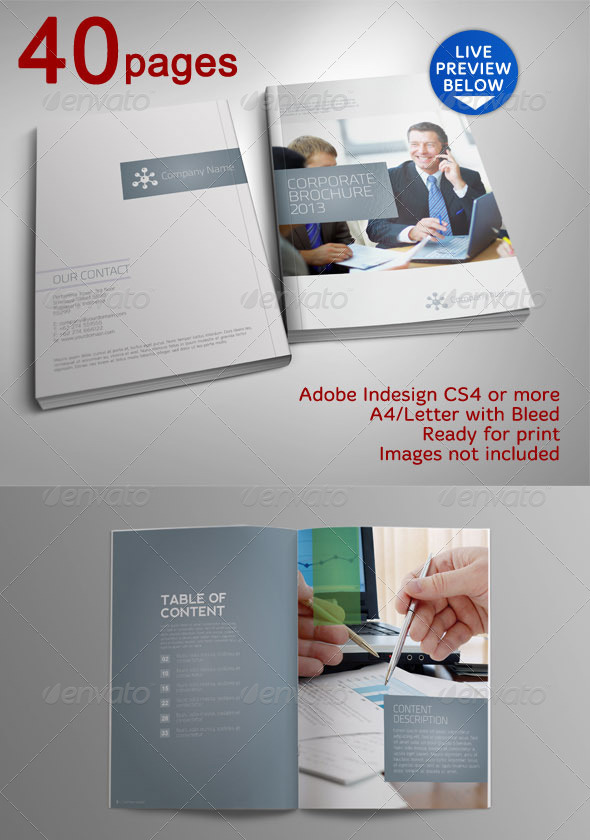 40 Pages Indah Corporate Brochure
