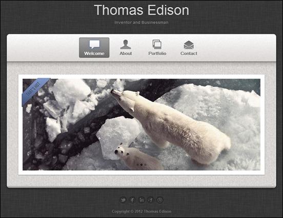 Edison - responsive vCard