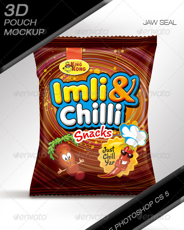 Chips & Snacks Pouch Mock up