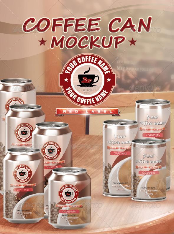Coffee Can Mockup