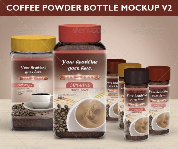 Coffee Power Bottle Mock-up