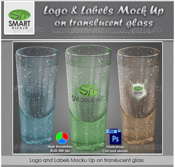 Logo Mockup on Translucent Glass Object