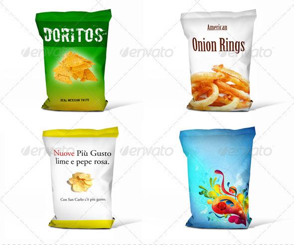 Realistic Chips Bag Mock-Up
