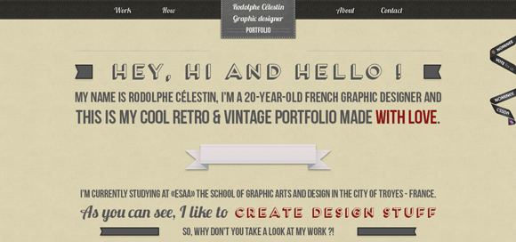 Awesome and Creative Portfolio Designs