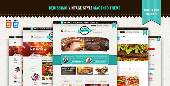Benissimo — Vintage Style Magento Theme