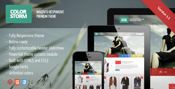 Colorstorm - Responsive&Retina Ready Magento Theme
