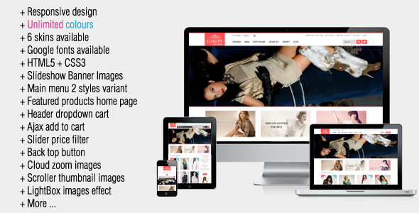 Luxury - Responsive Magento Theme