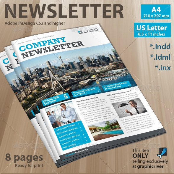 Best Newsletter Design for Print – Corporate Newsletter Template