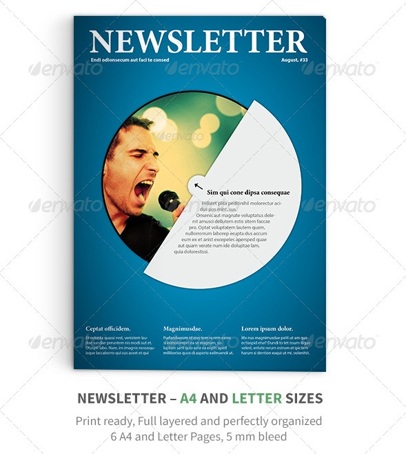 newsletter vol. 11 indesign template