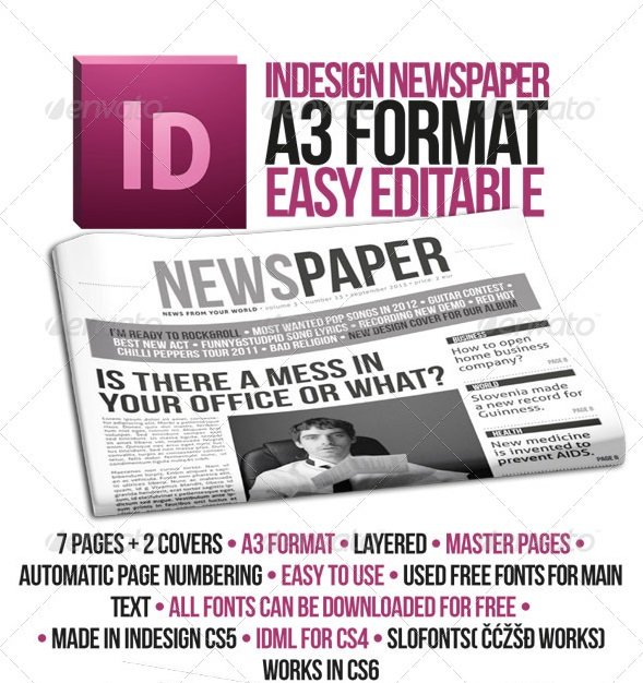 how to make a newspaper template in indesign