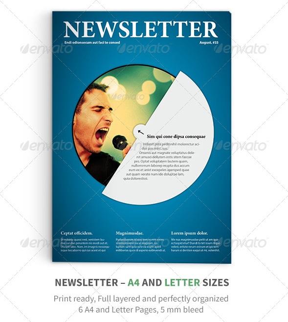 Best newsletter design for print 56pixelscom for Adobe newsletter templates