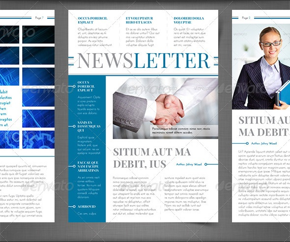 newsletter vol. 5 – indesign template