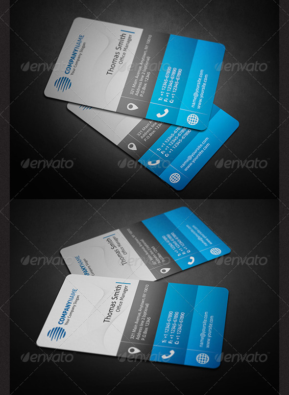 Awesome business card designs 56pixels corporate business card reheart Choice Image