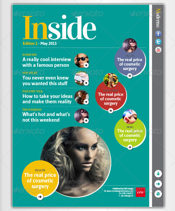 Moderno iPad Magazine template