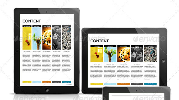 Awesome Digital Magazine Templates for Tablets | 56pixels.com