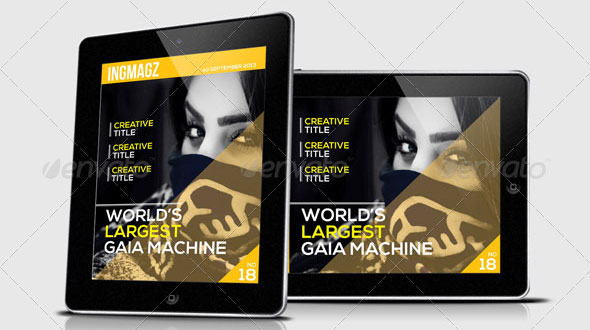 ingmagz tablet magazine template