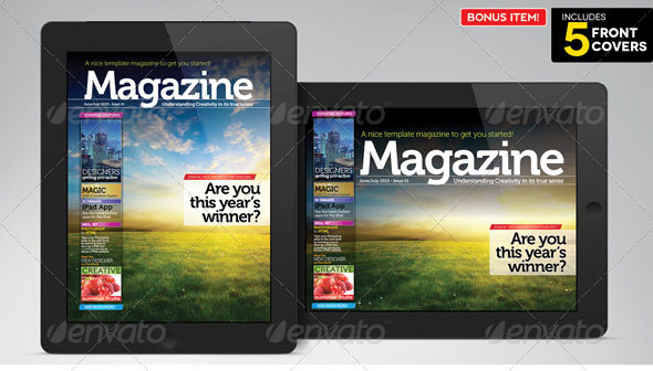 ipad tablet magazine indesign layout