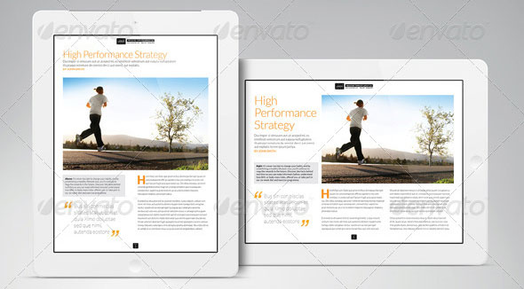ipad tablet mageine indesign layout