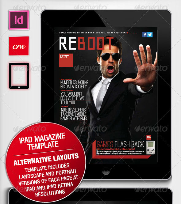 reboot iPad Magazine template