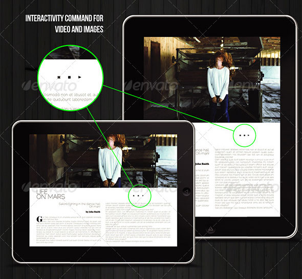 tablet pages multiple magazine